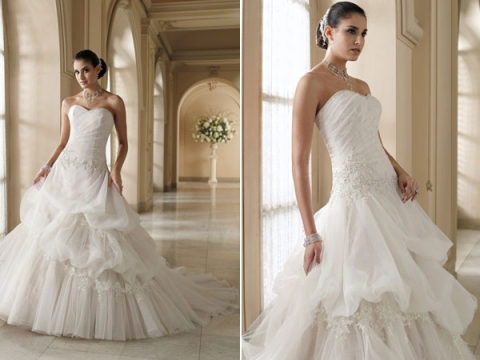 david tutera for mon cheri wedding gown